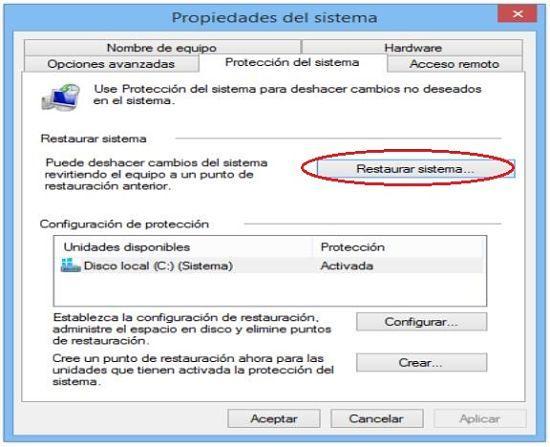 Restaurar Windows 8.1