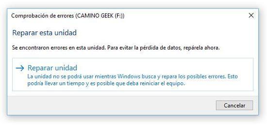 Reparar memoria USB dañada.