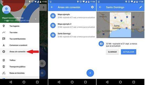 Cómo utilizar mapas sin internet en Google Maps