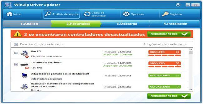 WinZip Driver Updater: Un buen programa para detectar y actualizar controladores de dispositivos