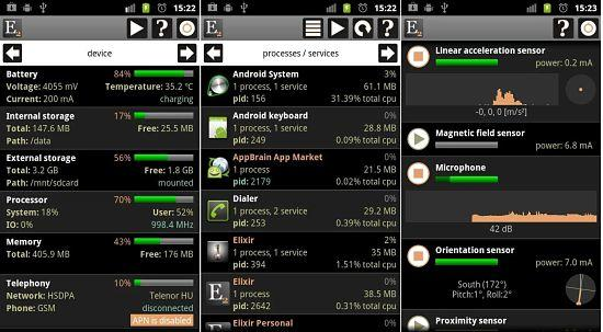 Exilir 2 es una de las mejores aplicaciones para analizar el rendimiento de tu dispositivo Android