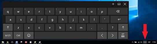 Utilizar el teclado en pantalla o teclado virtual en Windows 10