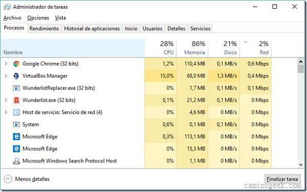 Determinar cuáles programas consumen más Internet en Windows 10