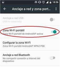Cómo crear una zona WiFi portátil en Android para compartir internet con otros dispositivos