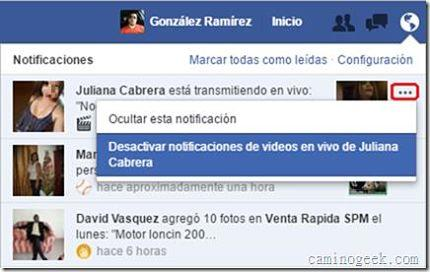 Cómo desactivar las notificaciones de videos en vivo de Facebook
