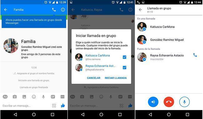 Realizar llamadas grupales en Facebook Messenger