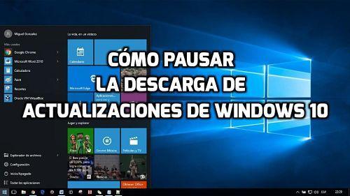Cómo pausar y reanudar la descarga de actualizaciones en Windows 10