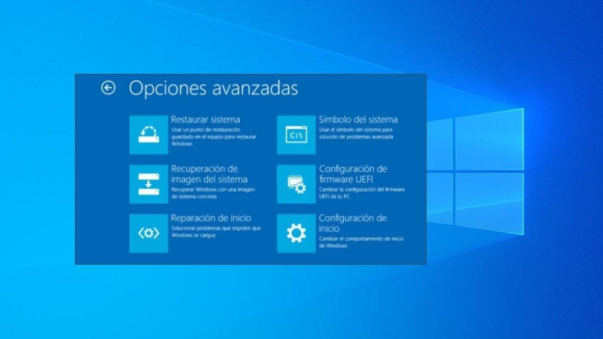 Cómo entrar a opciones avanzadas de arranque y recuperación en Windows 10