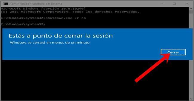 Formas de acceder a las opciones de inicio avanzadas en Windows 10