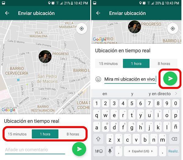 Cómo enviar ubicación por WhatsApp en tiempo real