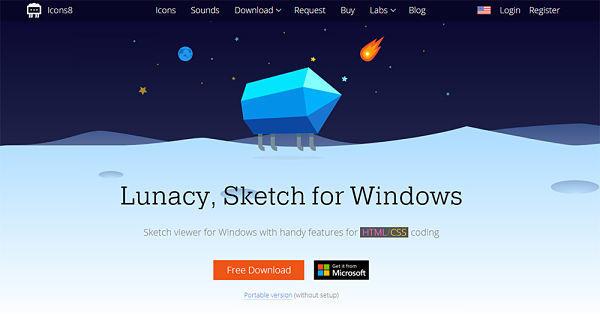 Visualizar archivos de Sketch en Windows con Lunacy
