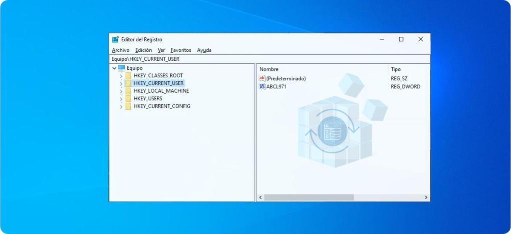 Restaurar el registro de Windows 10