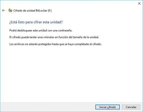 Poner contraseña a USB en Windows 10