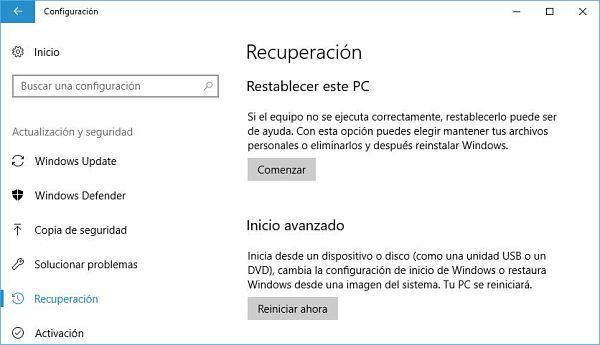 Restaurar el registro de Windows 10 a valores por defecto.