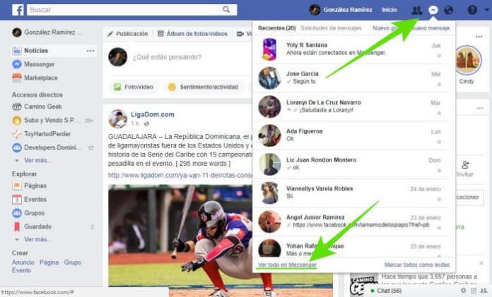 Cómo borrar mensajes de Facebook