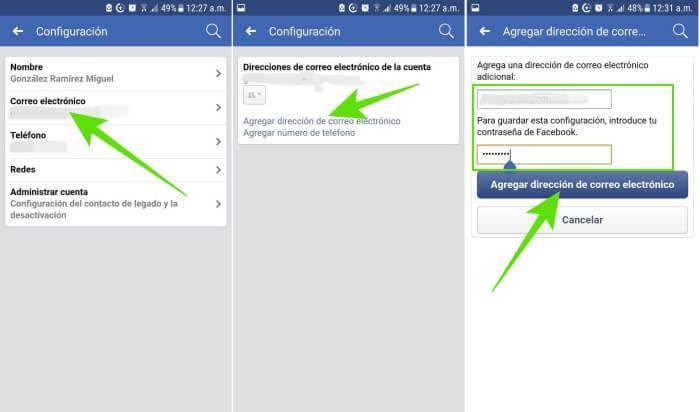 Cómo cambiar el correo de Facebook desde Android y iPhone