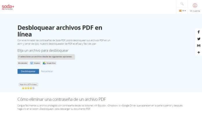 Soda Unlock PDF - Cómo desbloquear PDF online gratis