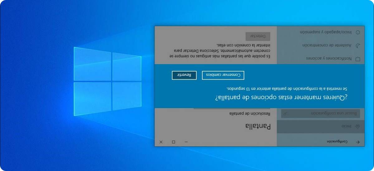 Cómo voltear la pantalla de una computadora si está al revés en Windows 10