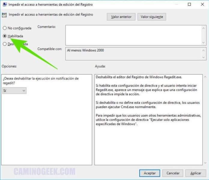 Cómo bloquear el acceso al Registro de Windows