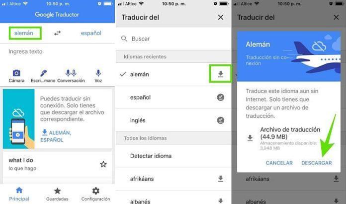 Descargar un idioma para usar el traductor de Google sin internet