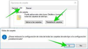Cómo restablecer la vista de carpetas en el Explorador de archivos de Windows 10