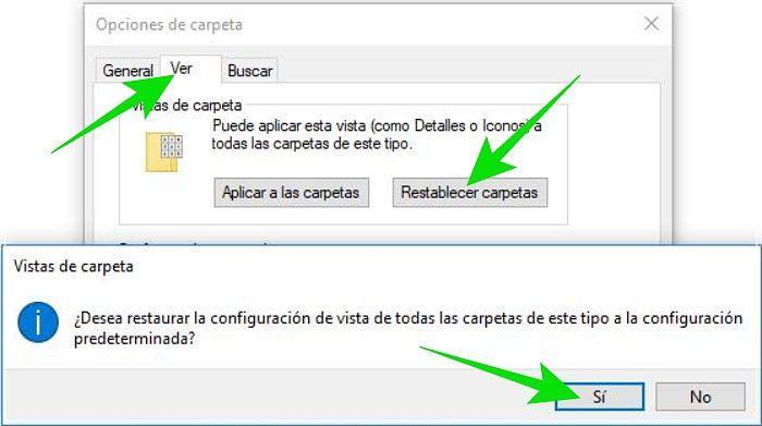 Cómo restablecer la vista de carpetas del Explorador de archivos en Windows 10