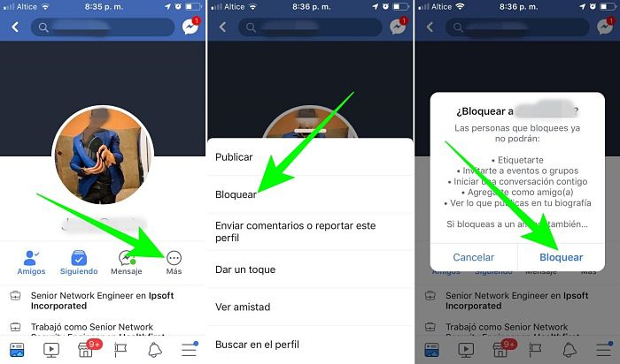 Cómo bloquear a una persona en Facebook desde el celular