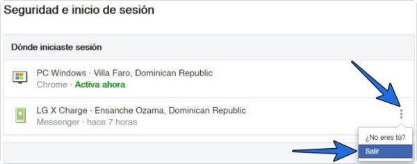 Cómo cerrar Facebook en otros dispositivos