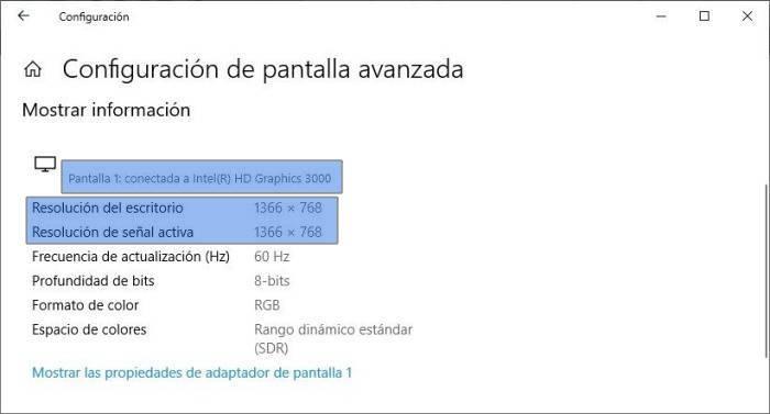 Cómo saber el modelo de mi monitor o pantalla en Windows 10