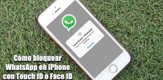 Bloquear WhatsApp en iPhone con Touch ID o FaceID