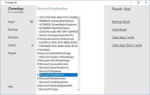 Respaldar configuración de aplicaciones universales de Windows con CloneApp UA