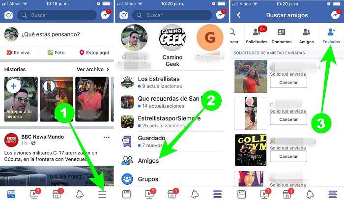 Cómo ver las solicitudes enviadas en Facebook desde el celular y la PC