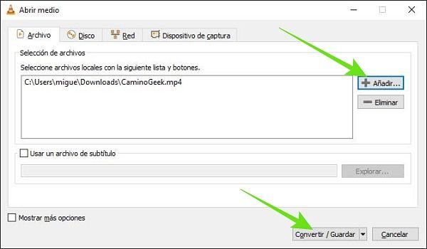 Convertir archivos multimedia a otros formatos con VLC