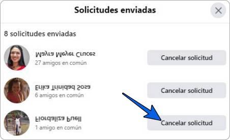 Cómo cancelar o eliminar solicitudes de amistad enviadas en Facebook