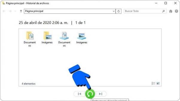 Cómo restaurar una copia de seguridad en Windows 10