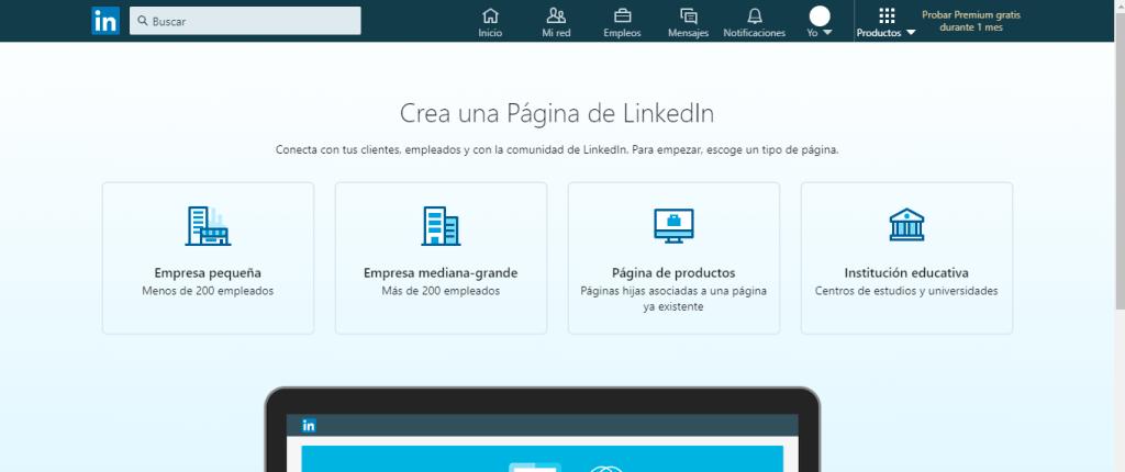 Como crear una página de empresa en LinkedIn