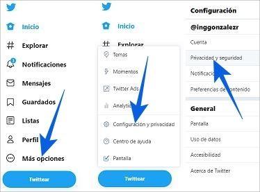 Cómo eliminar seguidores y poner Twitter privado