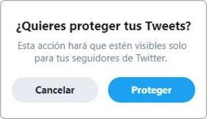 Poner tu perfil de Twitter privado