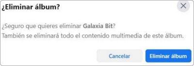 Cómo eliminar un álbumes de Facebook.