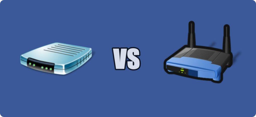 Cuáles son las diferencia entre router y módem?