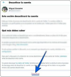 Cómo eliminar una cuenta de Twitter
