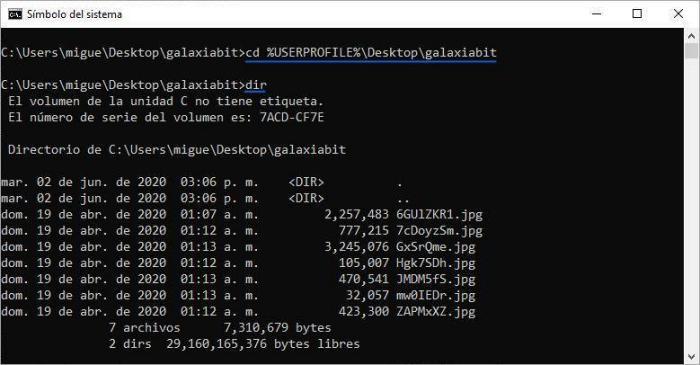 Renombrar archivos CMD (Símbolo del sistema)