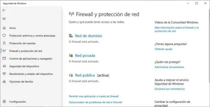 Activar Microsoft Defender Windows 10.