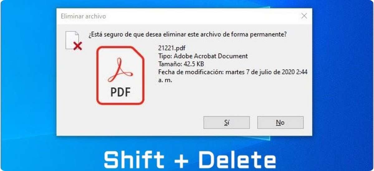 Cómo eliminar archivos definitivamente de mi PC