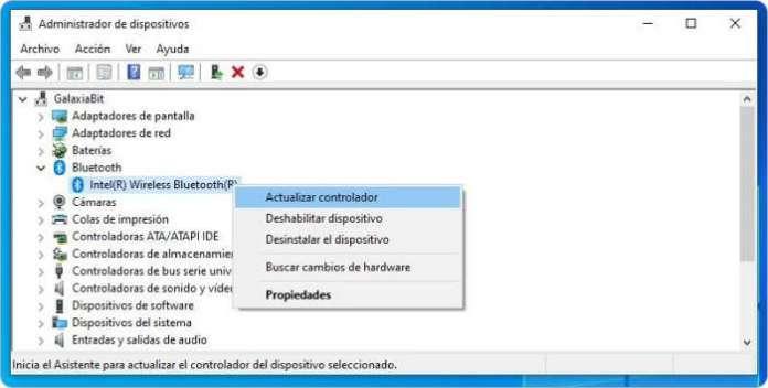 No funciona el dispositivo Bluetooth en Windows 10