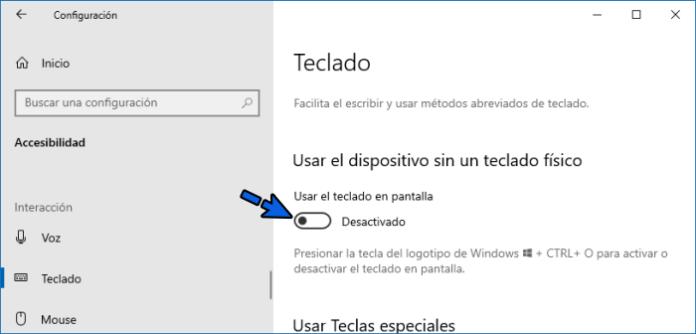 Desactivar Teclas filtro para solucionar la tecla Windows no funciona