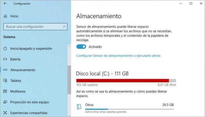 Borrar archivos temporales automáticamente en Windows 10