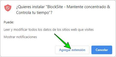 BlockSite para bloquear páginas de internet en Google Chrome