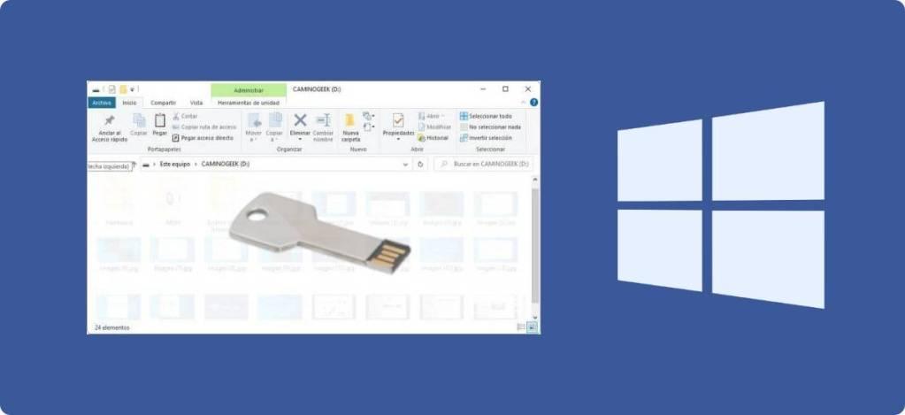 Cómo ver o mostrar los archivos ocultos en una memoria USB