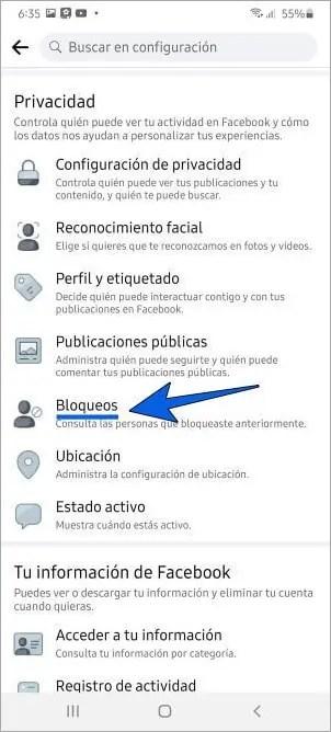 Cómo desbloquear a alguien en Facebook desde el celular